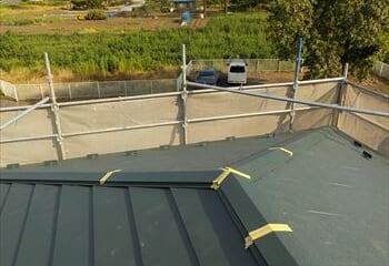 大屋根の工事完成