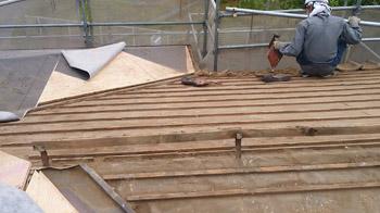 東松山市の屋根リフォーム工事開始