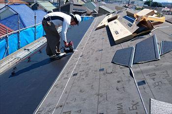 12.金属屋根張り