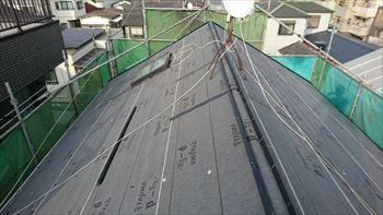 4.江戸川区の屋根リフォーム工事開始