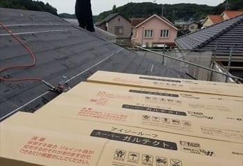 5.鶴ヶ島市の屋根本体張り工事開始
