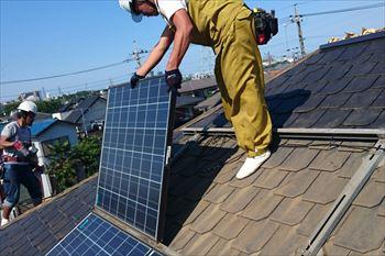太陽光(ソーラー)パネル取り外し