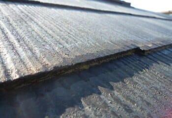 コロニアル屋根材本体の重ね合わせ部