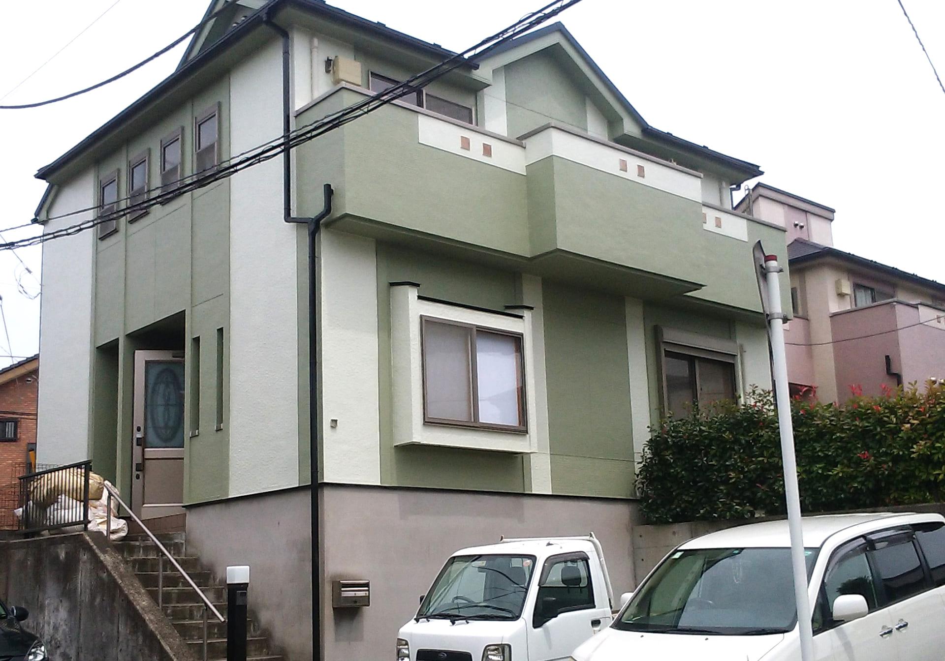 柏市の屋根と外壁塗装工事完成