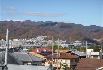 芦屋市の屋根からの景色