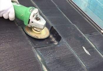 屋根本体の表面をフラットにします