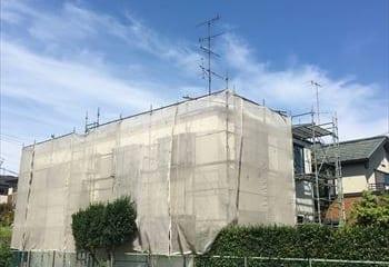 工事中の家の全体像