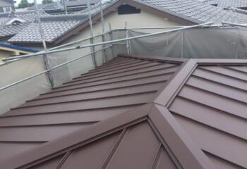 堺市 雨漏り屋根のリフォーム完成です