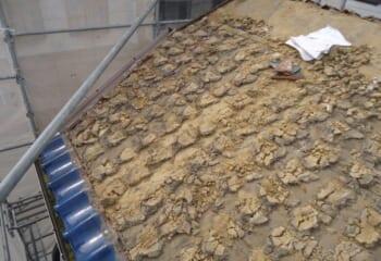 土葺き屋根の改修工事について
