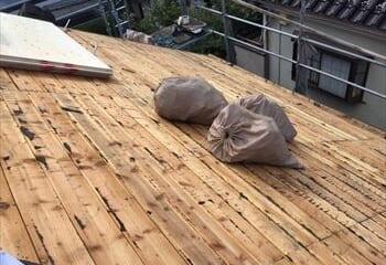 既存屋根撤去 完了