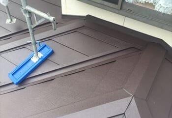 下屋根の施工完成