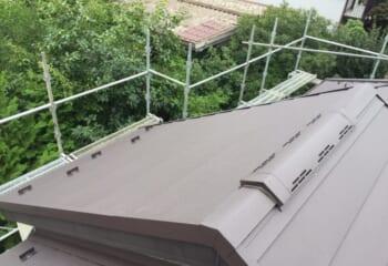 足立区の屋根カバー工法リフォーム完成