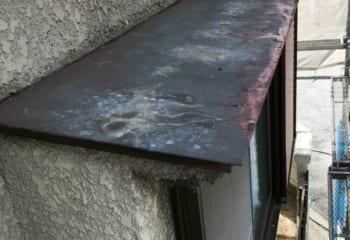 庇板金の塗装1