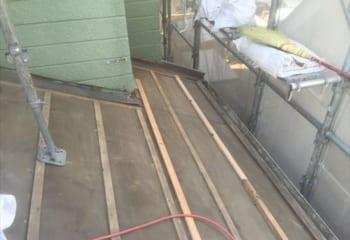 桶川市屋根リフォーム 既存屋根剥がし