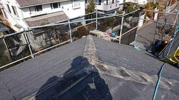 川西市の屋根リフォーム工事 施工開始