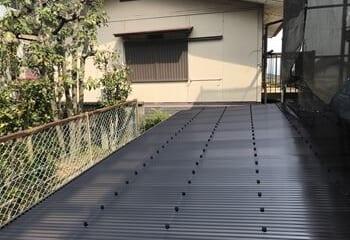ポリカ波板の施工