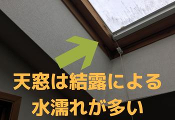 天窓(トップライト)からの雨漏り