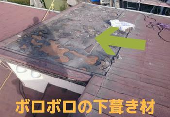 屋根の雨漏りは下葺き材が原因