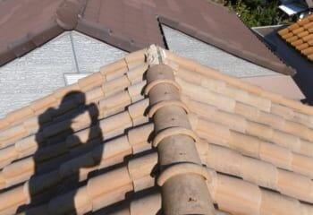 大阪市東淀川区 崩れた屋根から雨漏り