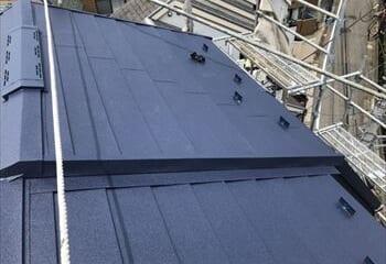 屋根の取り合い部板金処理