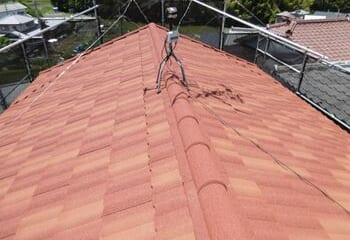 枚方市 石粒付き鋼板屋根葺き替えリフォーム 完成