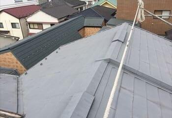 杉並区 屋根カバー工法リフォーム工事開始