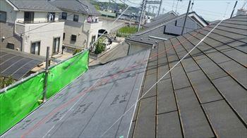 屋根リフォーム工事開始