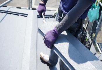 金属屋根は板金工が専門