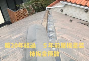 屋根塗装から5年経過