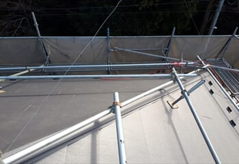 パミール屋根の葺き替え