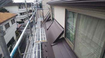 下屋根の板金加工