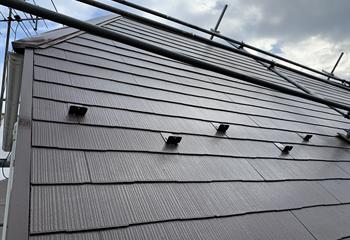 川口市の屋根塗装 板金の交換工事完成
