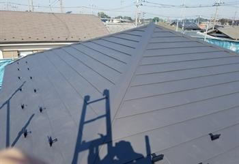 板橋区の屋根葺き替え工事完了です