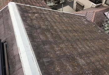 アスベスト入りスレート屋根