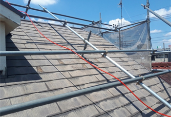 葛飾区の屋根工事開始