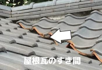 瓦屋根のすき間と通気効果