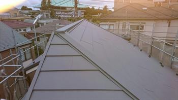 屋根通気工法完成
