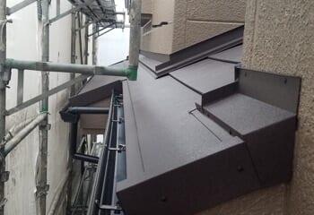 下屋根の施工