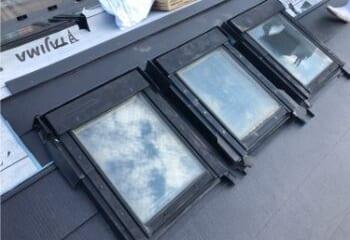 天窓まわりの施工