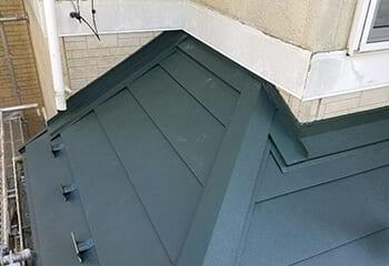 下屋根の雨仕舞処置