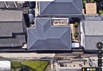 グーグルマップで見た自宅の屋根