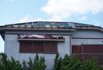 台風15号による被害 大規模半壊
