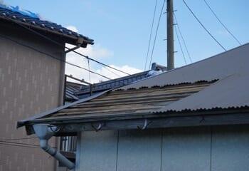 台風15号による屋根被害 半壊