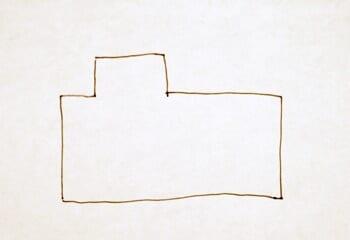 グーグルマップから家の形をメモするる