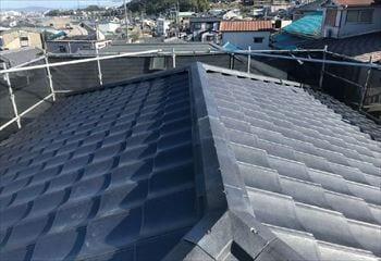 堺市南区の屋根葺き替えリフォームが完成です!
