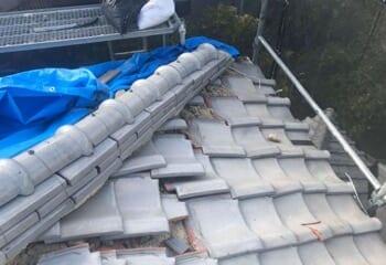ルーガによる葺き替え工事の施工前写真