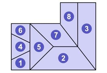 屋根の形が複雑