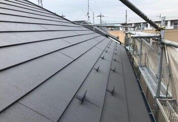 野地板増し張り屋根カバー工法の施工後写真