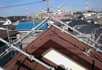 コロニアルをガルバリウム鋼板に葺き替える工事の施工後写真