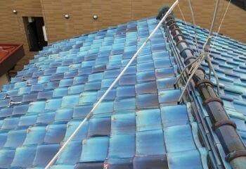 スーパーガルテクトによる屋根葺き替え工事の施工前写真